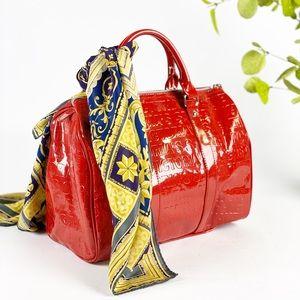 Victoria Secret Red Branded Satchel Handbag Shinny